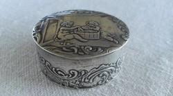 XIX. századi ezüst szelence, Hanau, 37 gramm