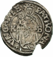 Ezüst  Ferdinánd Denár 1528 hiányos