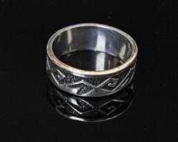 Mexikói, ezüst női gyűrű