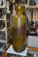 Gallé copia román íparművészeti üveg váza