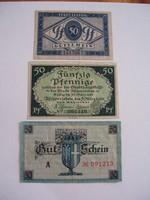 Németország Pfennig sor 3db V.
