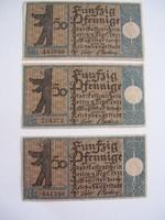 Németország Pfennig sor 3db X.