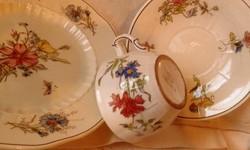 Antik fajansz herendi teás csésze alátéttel + tányér