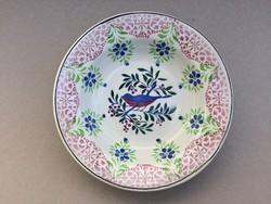 Antik fali tányér Wilhelmsburgi fajansz madár mintás madaras