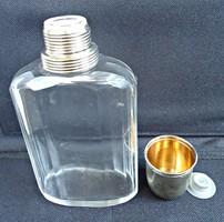 1940 körüli csiszolt üveg italos flaska