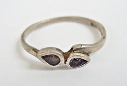Két zöld köves 935-ös ezüst gyűrű