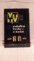 Videoton Rádió és Televízió Gyár mechanikus fali naptár reklámhordozó csoda