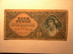 1000 pengő 1945 !! Bélyeg nélkül !