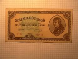 Extra szép 100 millió pengő 1946 !!