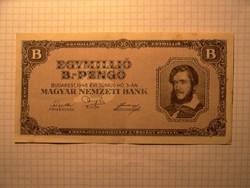Szép 1 millió B.-pengő 1946 !!
