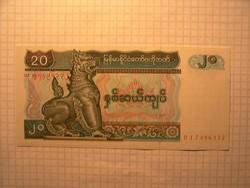 Unc 20 Kyats Myanmar  !!