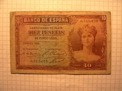 Spanyol 10 Peseta  1935 !!