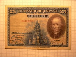 Ritka, és szép Spanyol 25 Peseta  1928 !!