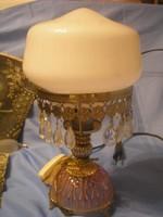 N2 Art decó kristály függős asztali lámpa ritkaság