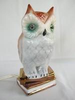 Bagoly porcelán lámpa hangulatlámpa