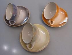 3 db szépséges, Kerámia Iparművész csésze, csészealjjal