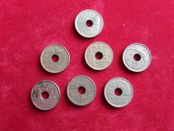 Spanyolország 7 darab különböző 25 peseta.