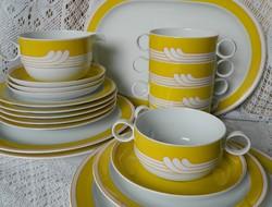 Rosenthal Studio Line Ambrogio Pozzi porcelán étkészlet, vacsora készlet, leveses csésze, tányér