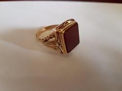 14K arany férfi pecsétgyűrű  10,59 g