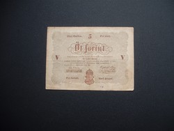 5 forint 1848 Kossuth bankó barna számozás