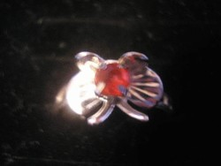 N3 Pillangó állítható gyűrű +ékkővel