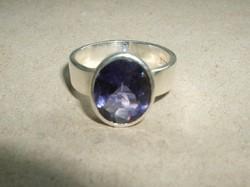 Ametisztköves ezüstgyűrű