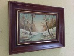 Rónai Antal festmény - zsűrizett, etikettel