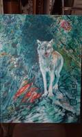 Farkas olajkép ( Indián lélek)