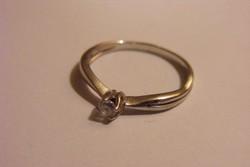 Ezüst gyűrű gyémánt hatású cirkonnal
