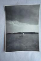 Tihany látképe Belső tó 1955 fénykép