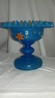 Antik kézzel festett üveg kehely 1800-1850 gyűjteménybe