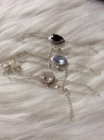 Kiárusítás-kristály kövek karláncok + fülbevaló