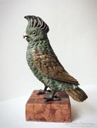 Különleges kidolgozottságú hibátlan hatalmas bronz szobor