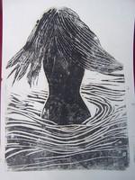 XX.sz.közepe: Fürdőző nő