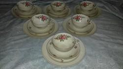 Romantikus  Thomas Ivory/ Germany porcelán kávés süteményes készlet darabra!