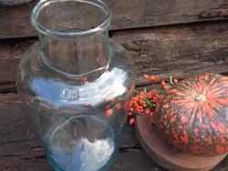 12 literes türkizkék  formàba fújt üveg