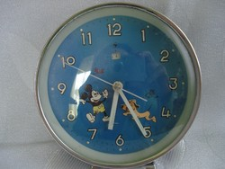 Retro csörgő óra disney figurákkal