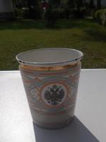 Ritka Cári időkből való orosz zománcozott fém 1896 festett pohár