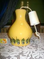 Retro kerámia mennyezeti lámpa, csillár - porcelán foglalattal