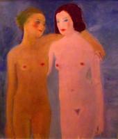 Emőd Aurél (1897-1958): Fürdőző fiatal lányok