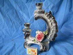 Nápolyi-Capodimonte barokk gyertyatartó