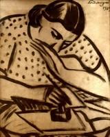Schönberger Armand (1885-1974): Író lány