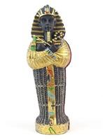 0O120 Egyiptomi szarkofág múmiával 15 cm