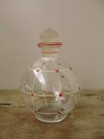 Ritka,régi,pöttyös mintás likőrös üveg,palack
