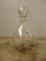 Ritka,régi,metszett likőrös üveg,palack