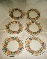 6 db angol porcelán tányér 1100 Ft/ db
