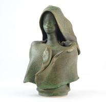 0O141 Lovas & Rácz kerámia szobor 15 cm