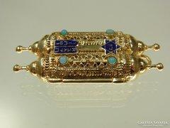 Medall ritka  arany 14 judaika TORA