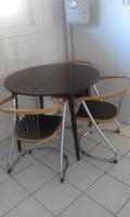 Étkezőasztal+4 db modern ebédlőszék eladó