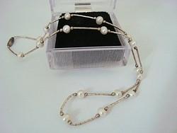 Gyöngyös ezüst nyaklánc